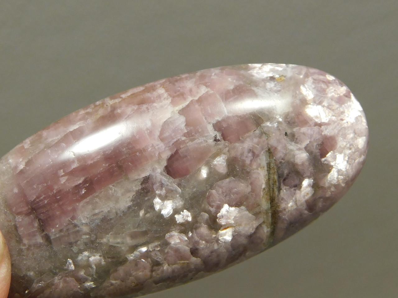 Lavender Purple Lepidolite Jewelry  Supplies Stone Cabochon #8