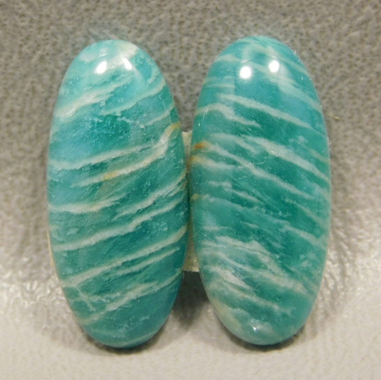 Amazonite Matched Pair Cabochons Stones Jewelry Supplies #7