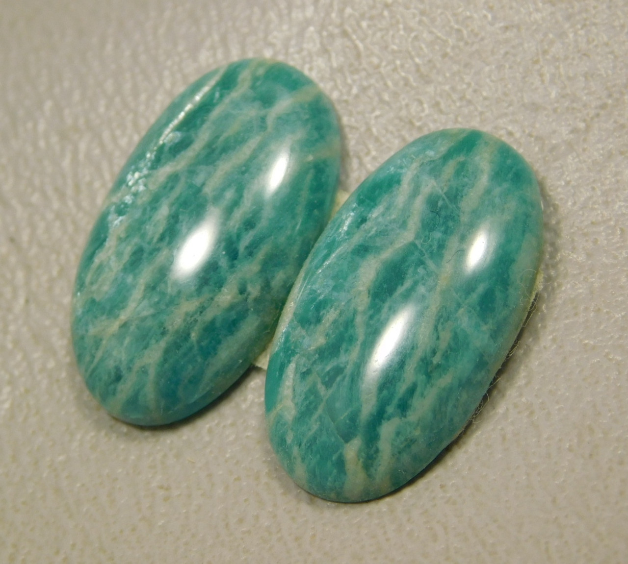 Amazonite Matched Pairs Cabochons Stones Jewelry Supplies #8