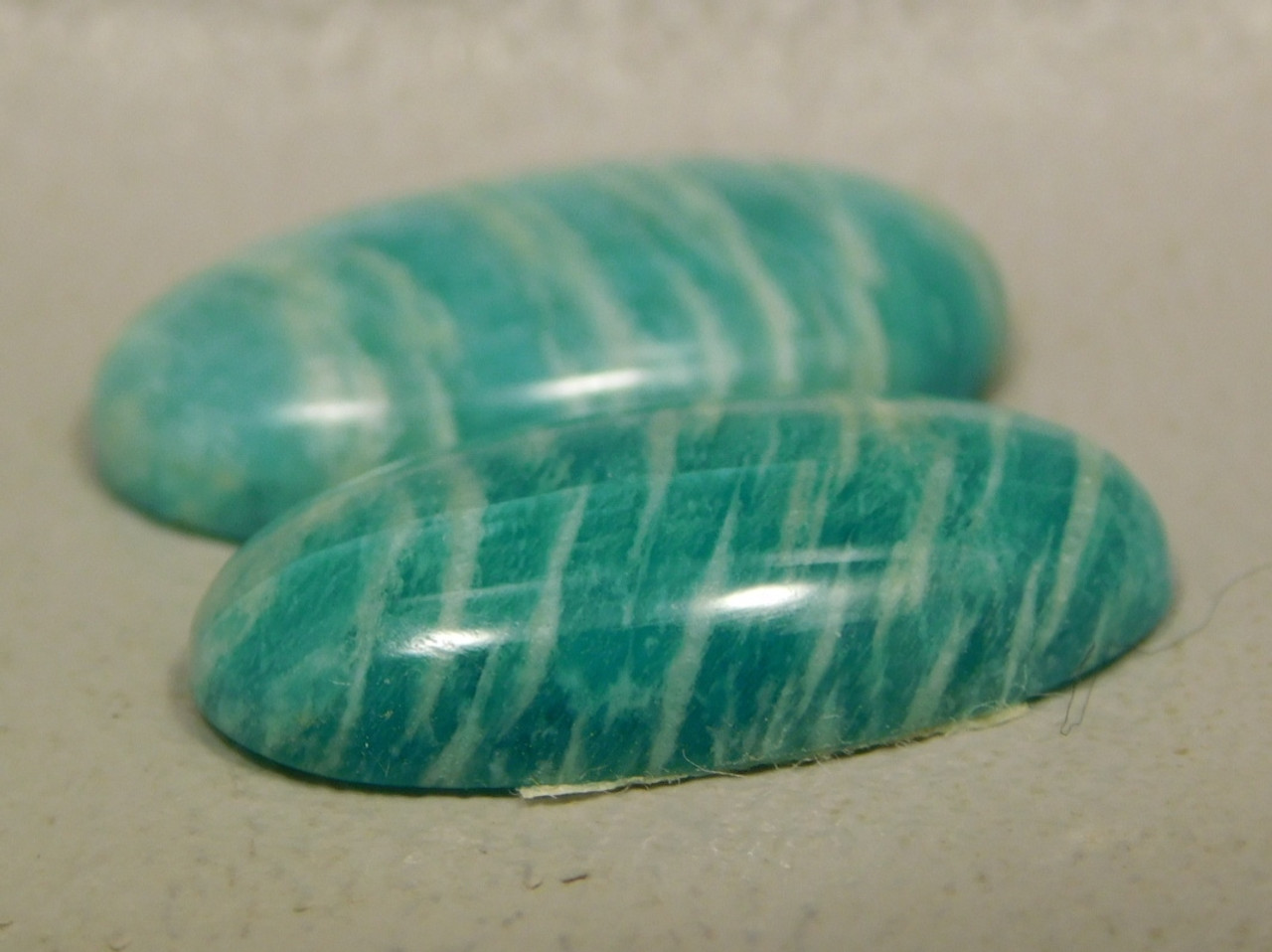 Amazonite Matched Pairs Cabochons Stones Jeweler Supplies #9