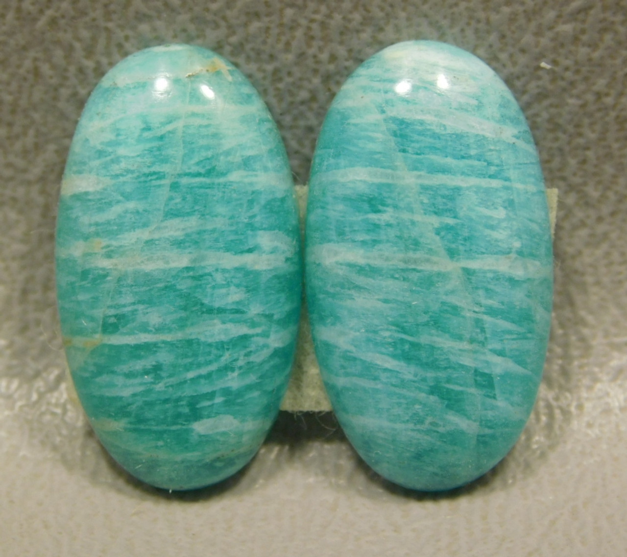 Amazonite Matched Pairs Cabochons Stones Jewelry Design #10