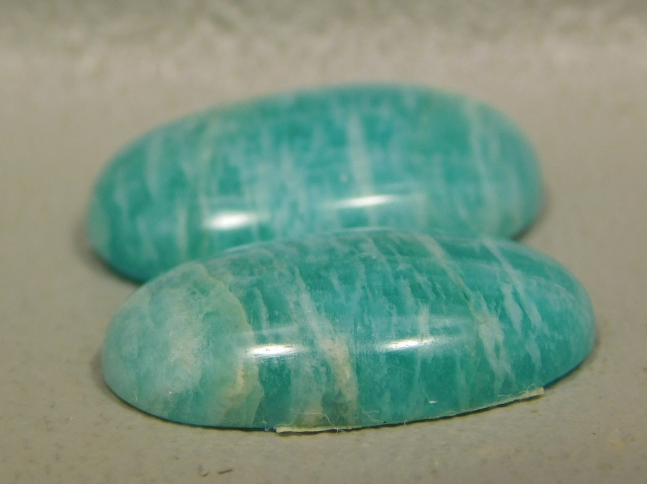 Amazonite Matched Pair Cabochons #11