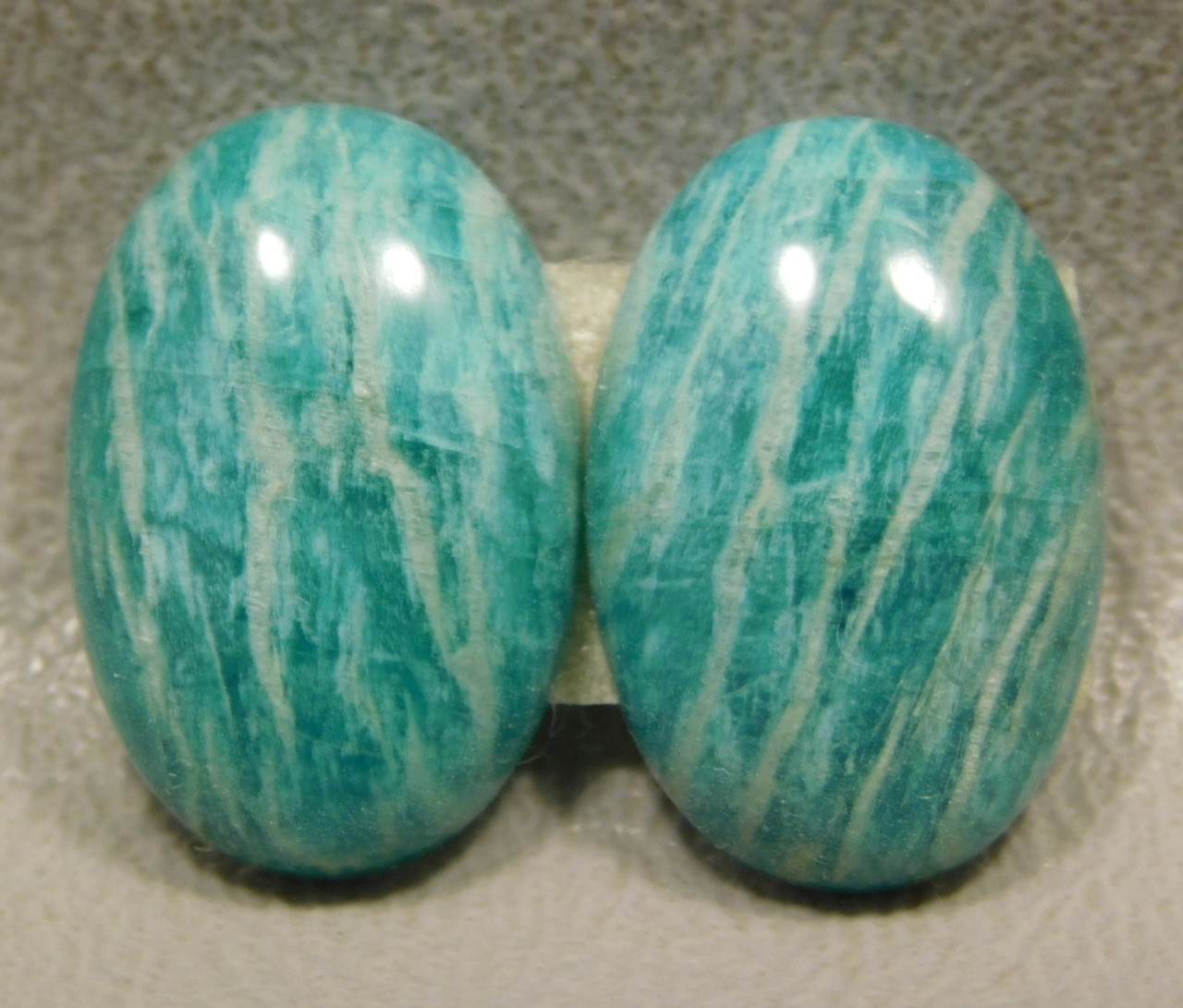 Green Amazonite Matched Pairs Cabochons Wire Wrapping #18