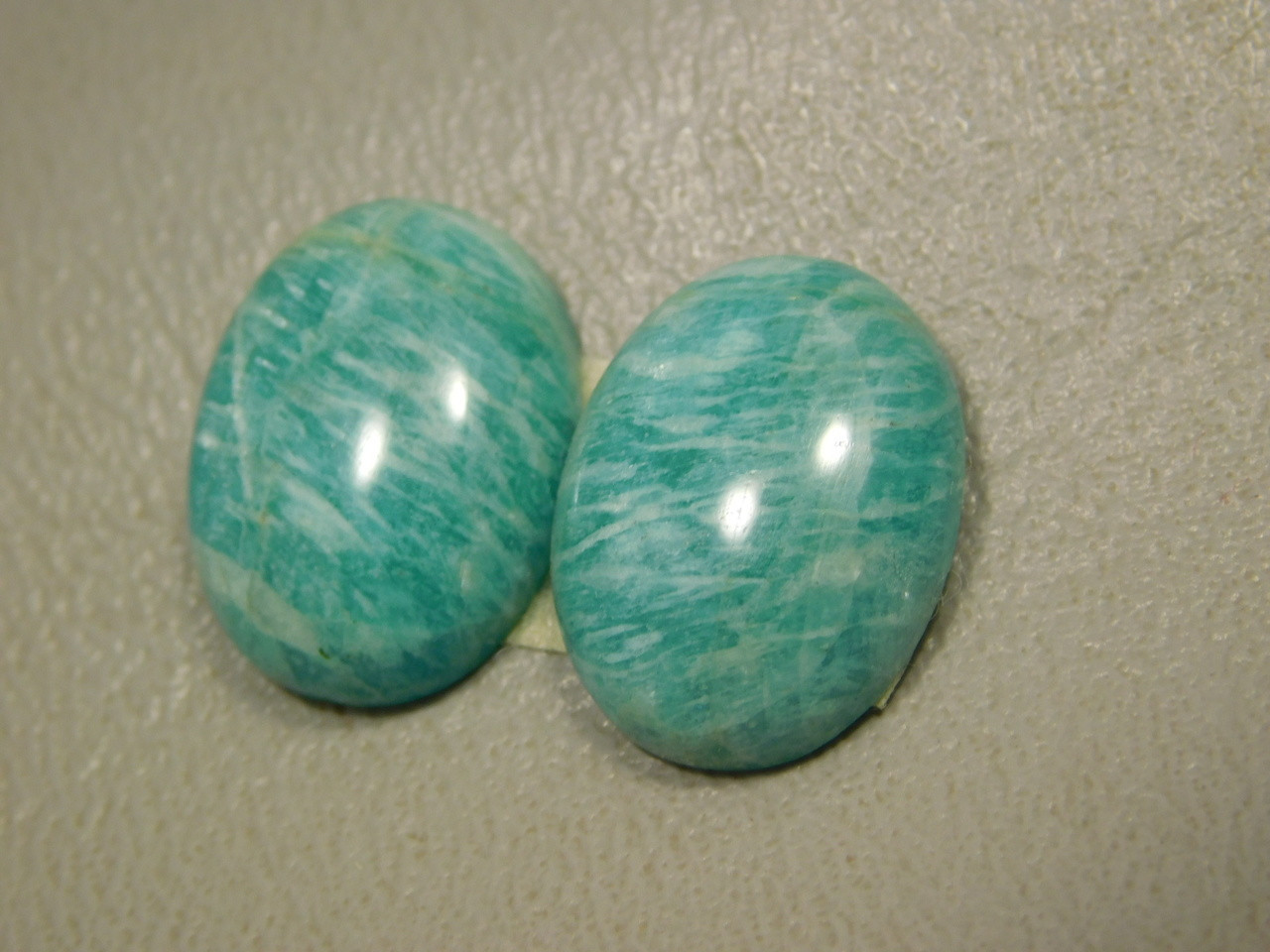 Green Amazonite Matched Pairs Cabochons Semiprecious Stones #19