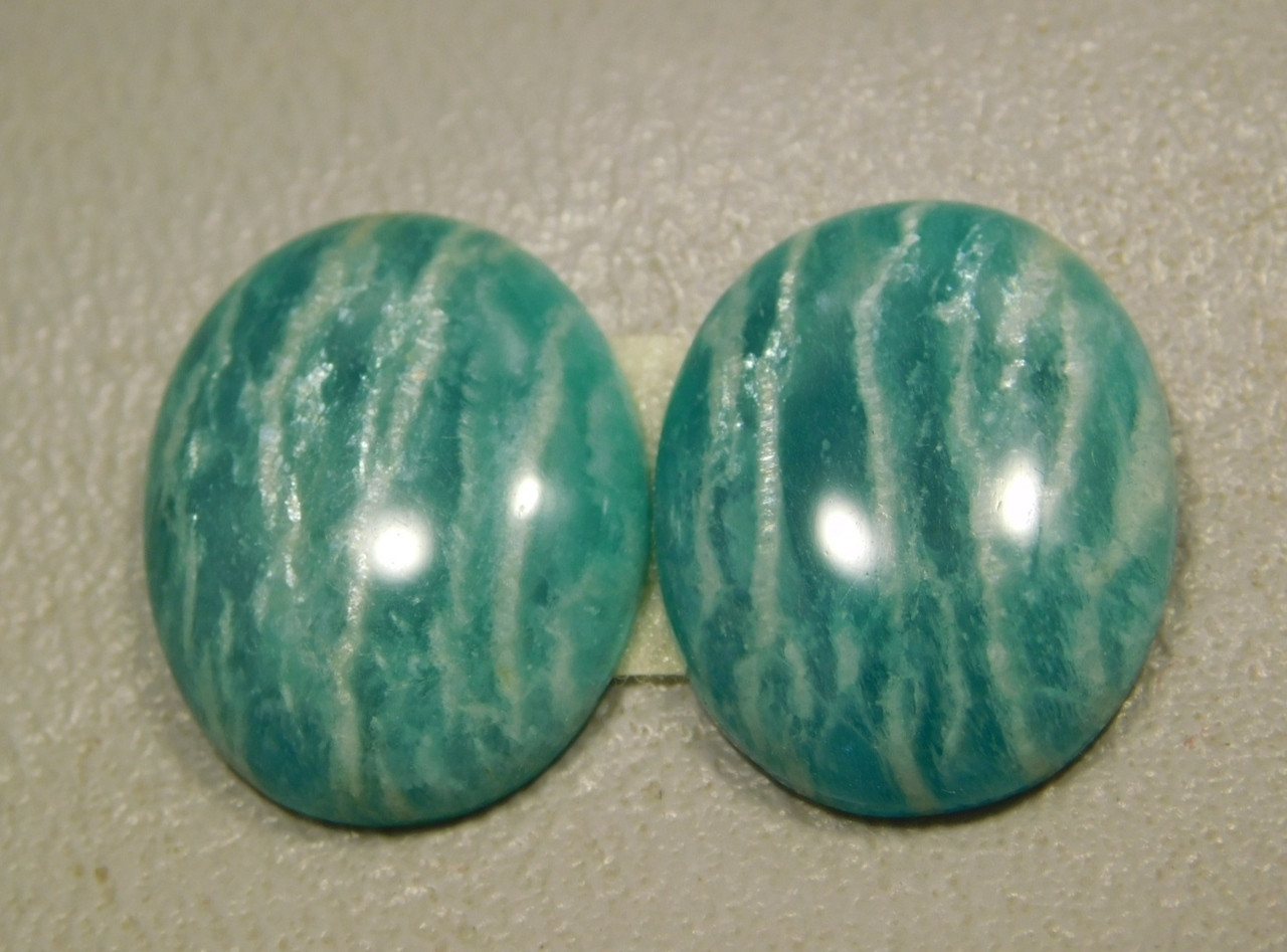 Amazonite Matched Pairs Cabochons Semiprecious Gemstones #20