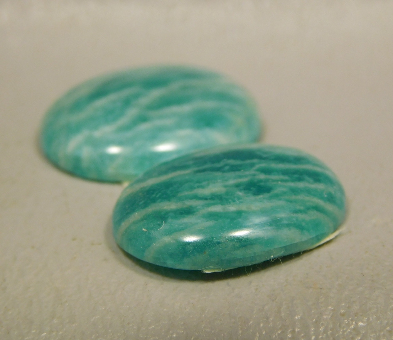 Amazonite Matched Pairs Cabochons Jewelry Design #21