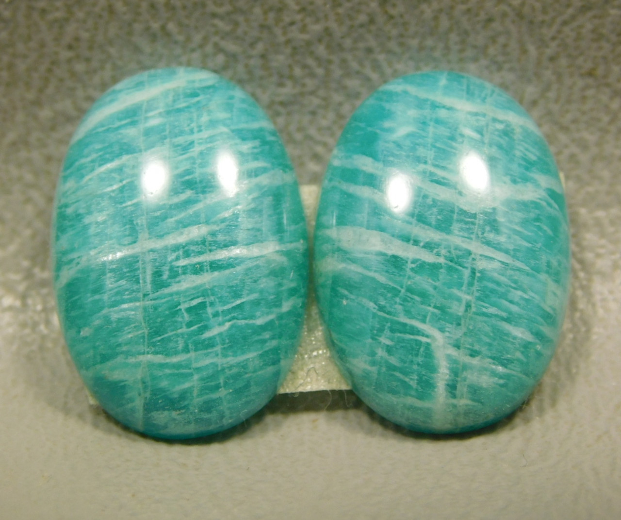 Amazonite Matched Pairs Cabochons Jewelry Designer #22