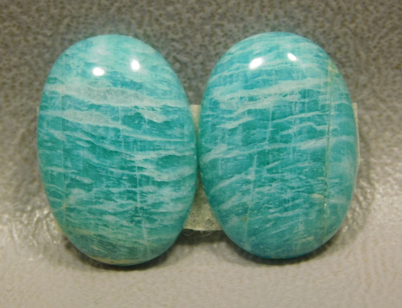 Amazonite Matched Pairs Cabochons Jewelry Making #23