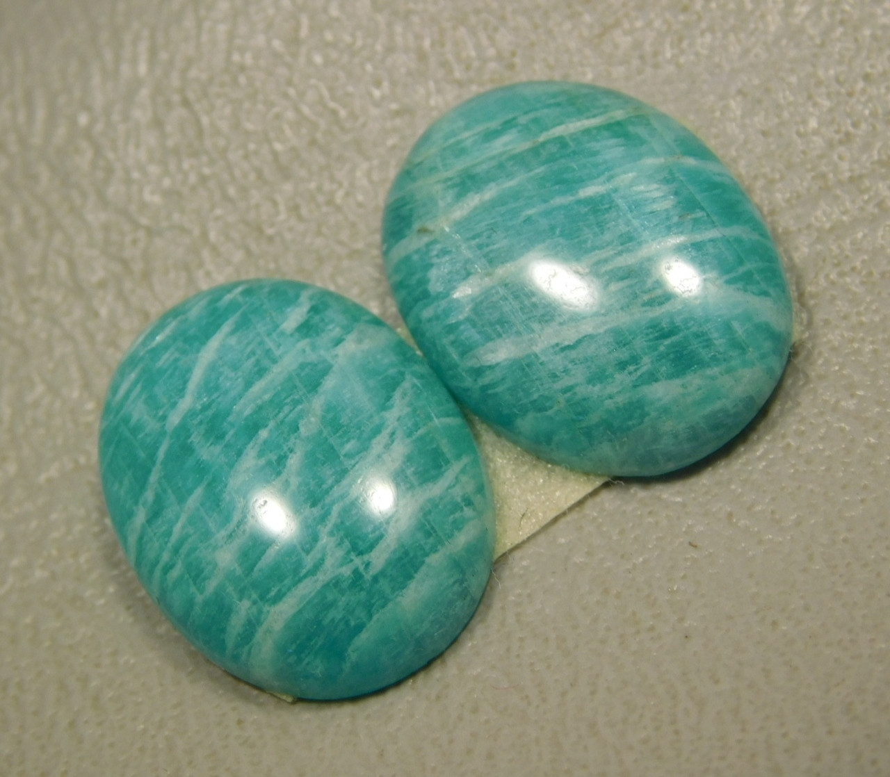 Amazonite Matched Pairs Cabochons Jewelry Making Supplies #24