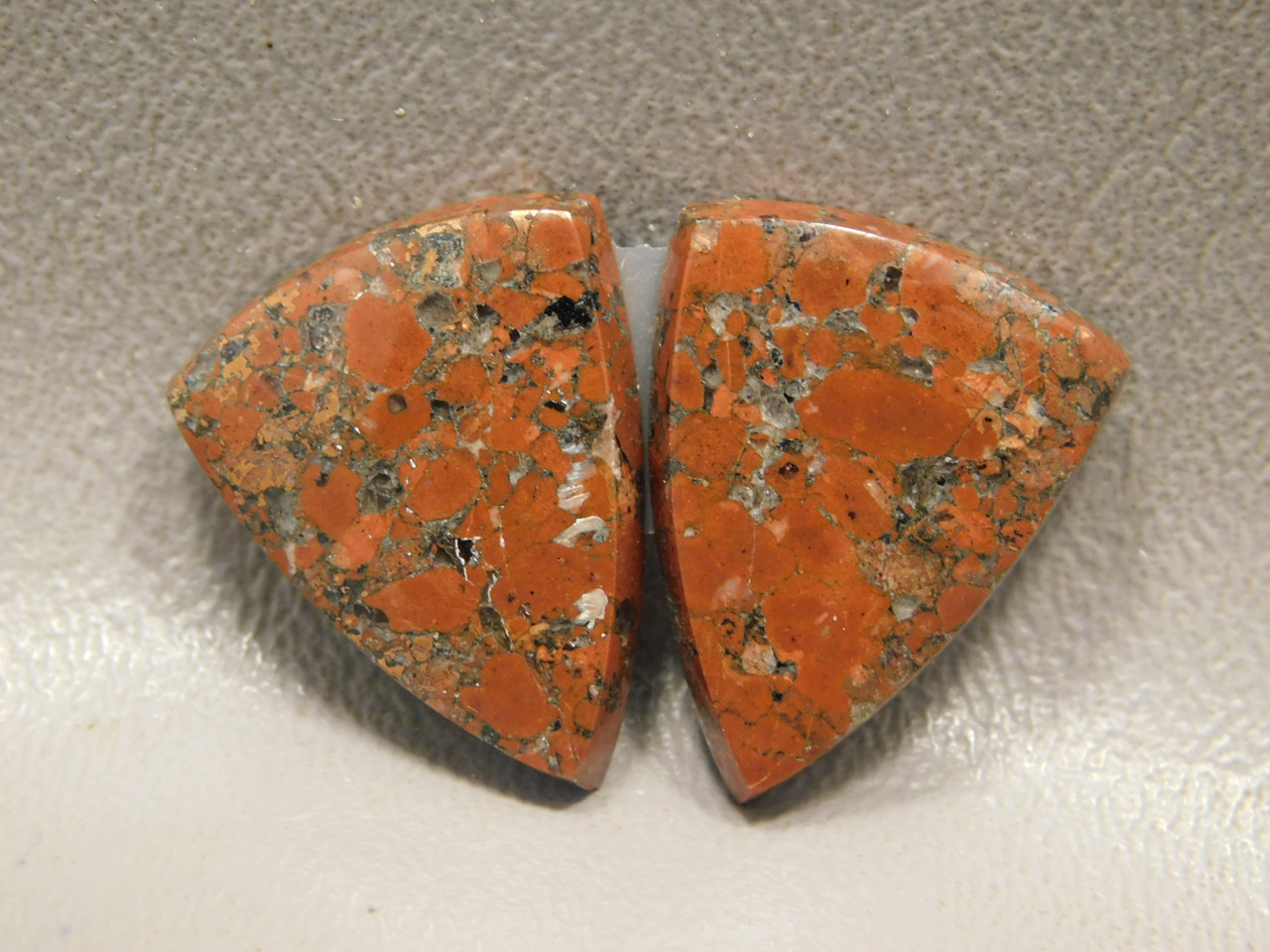 Kingston Ore Native Copper Rose Matched Pairs Cabochons #2
