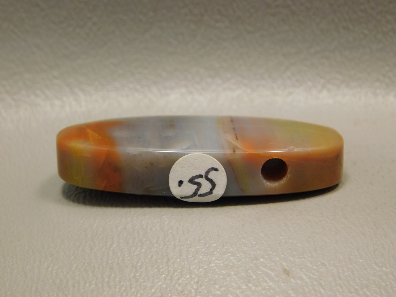 Arizona Rainbow Petrified Wood Stone Bead Pendant #8