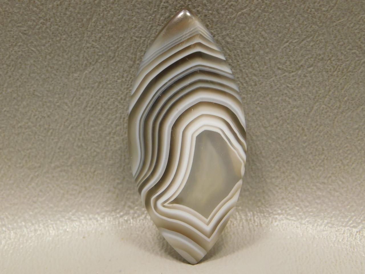 Botswana Agate Banded Translucent Cabochon Stone #14