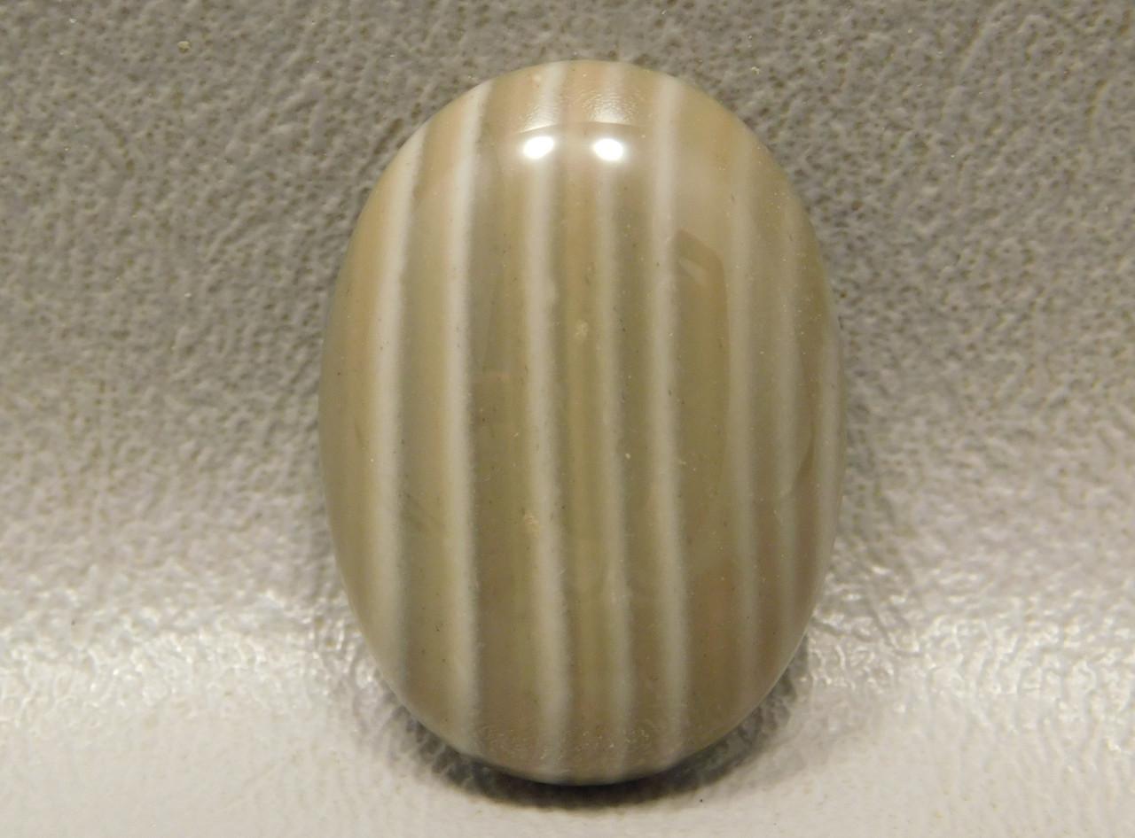Cabochon Banded Poland Flintstone Semi Precious Gemstone #11