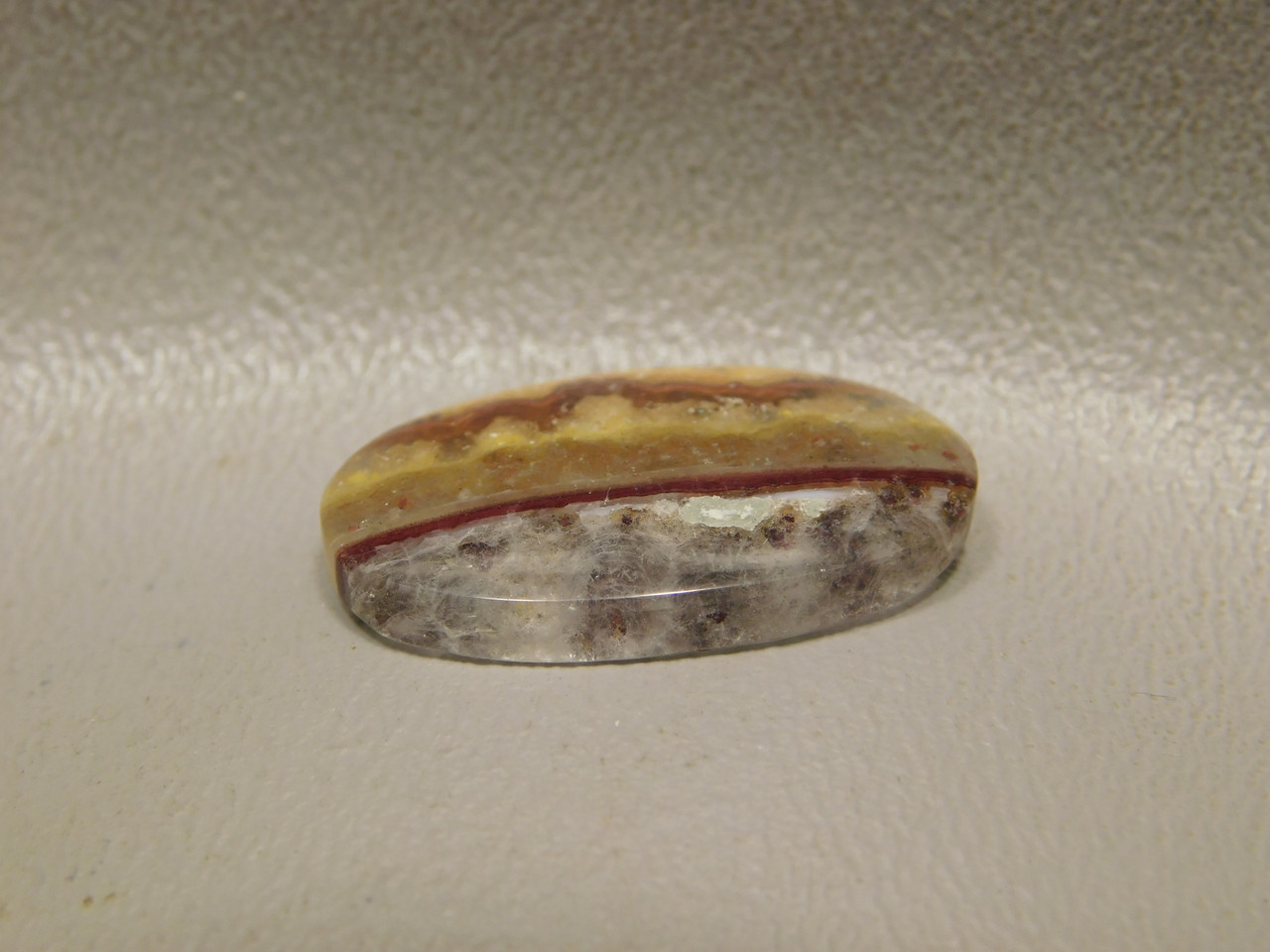 Candy Opal Red Translucent Banded Cabochon Oval Ring Stone #5