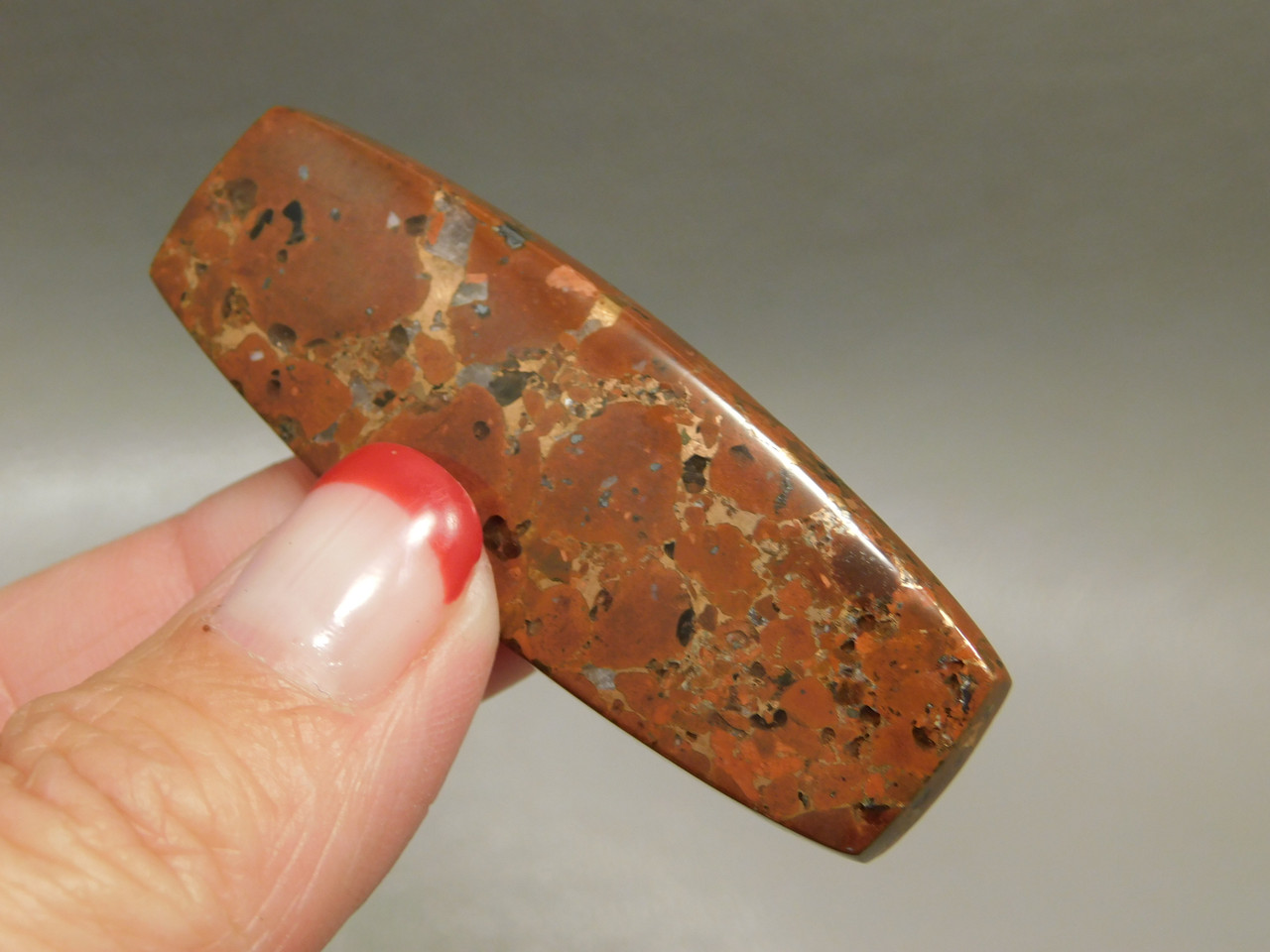 Cabochon Native Copper Rose Red Stone Kingston Conglomerate #22