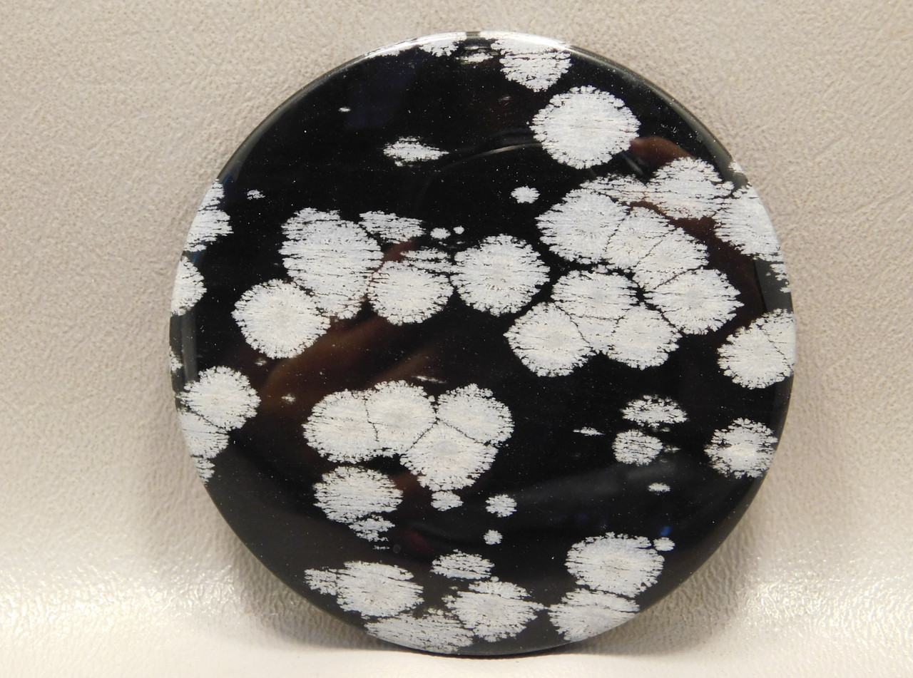 Snowflake Obsidian Large Cabochon Collector 2.75 inch Round #xl1