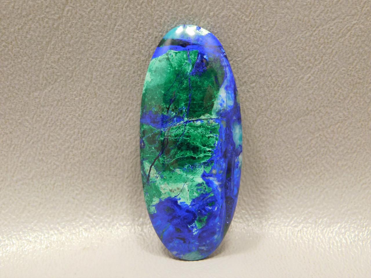 Stone Cabochon Chatoyant Azurite Malachite Thin Oval #12