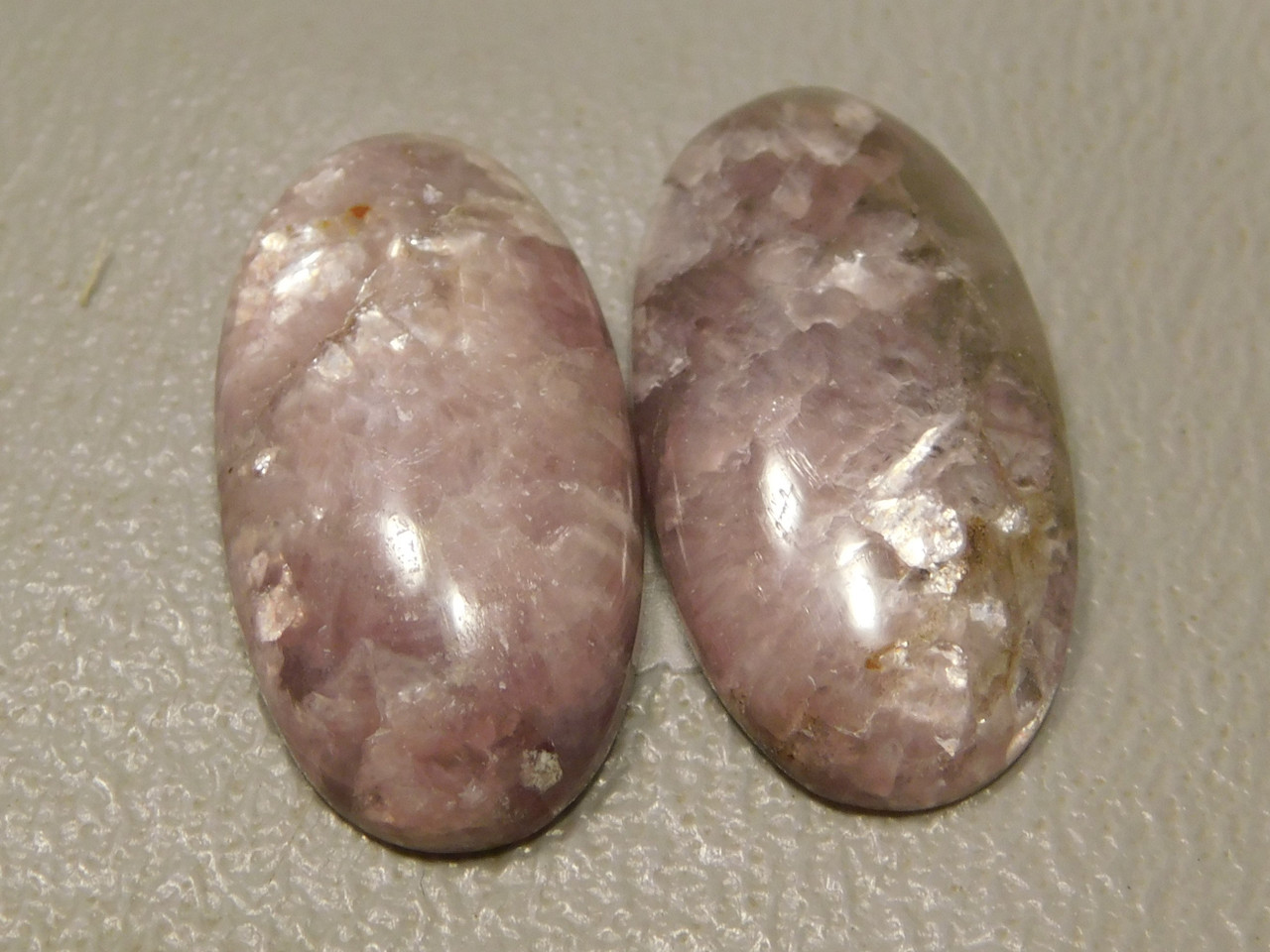 Lepidolite Matched Pairs Cabochons #1