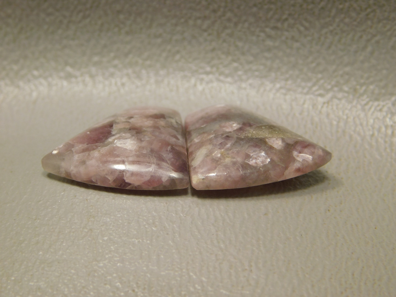 Lavender Lepidolite Cabochons Matched Pair Jewelry Supplies #11