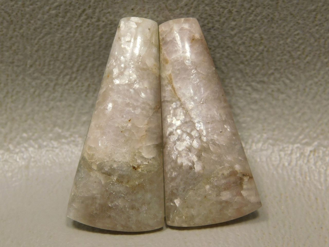California Lepidolite Cabochons Matched Pair Jewelry Design #17