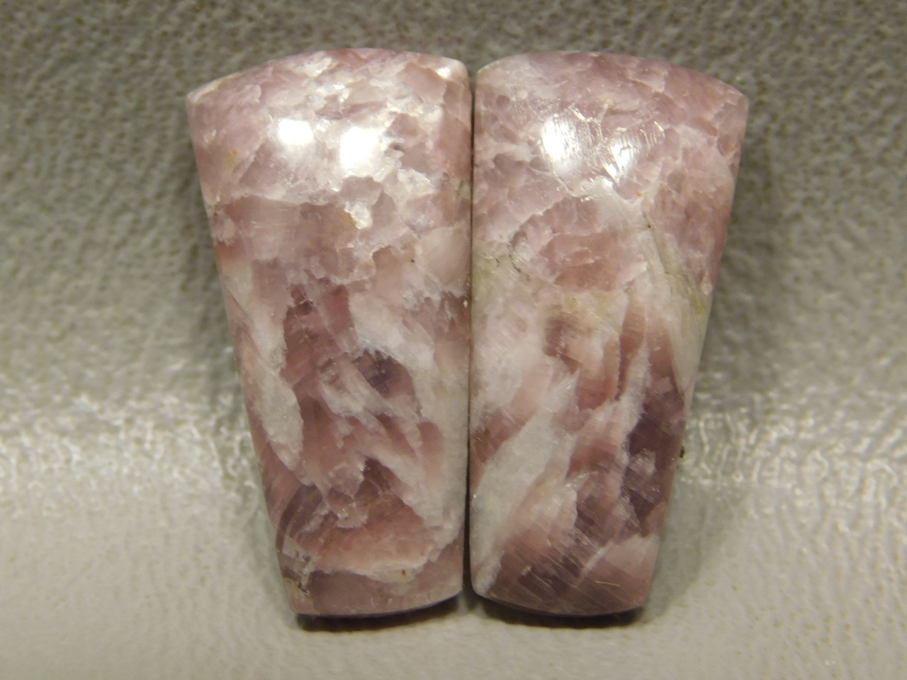 California Lepidolite Cabochons Matched Pairs Loose Stones #19