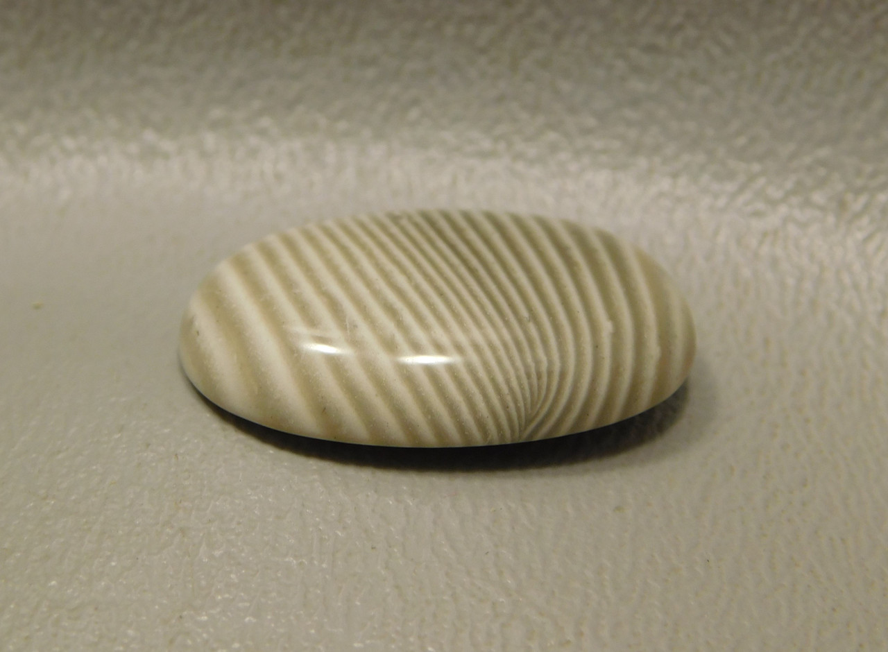 Cabochon Banded Polish Flint Oval Stone for Jewelry Making #9