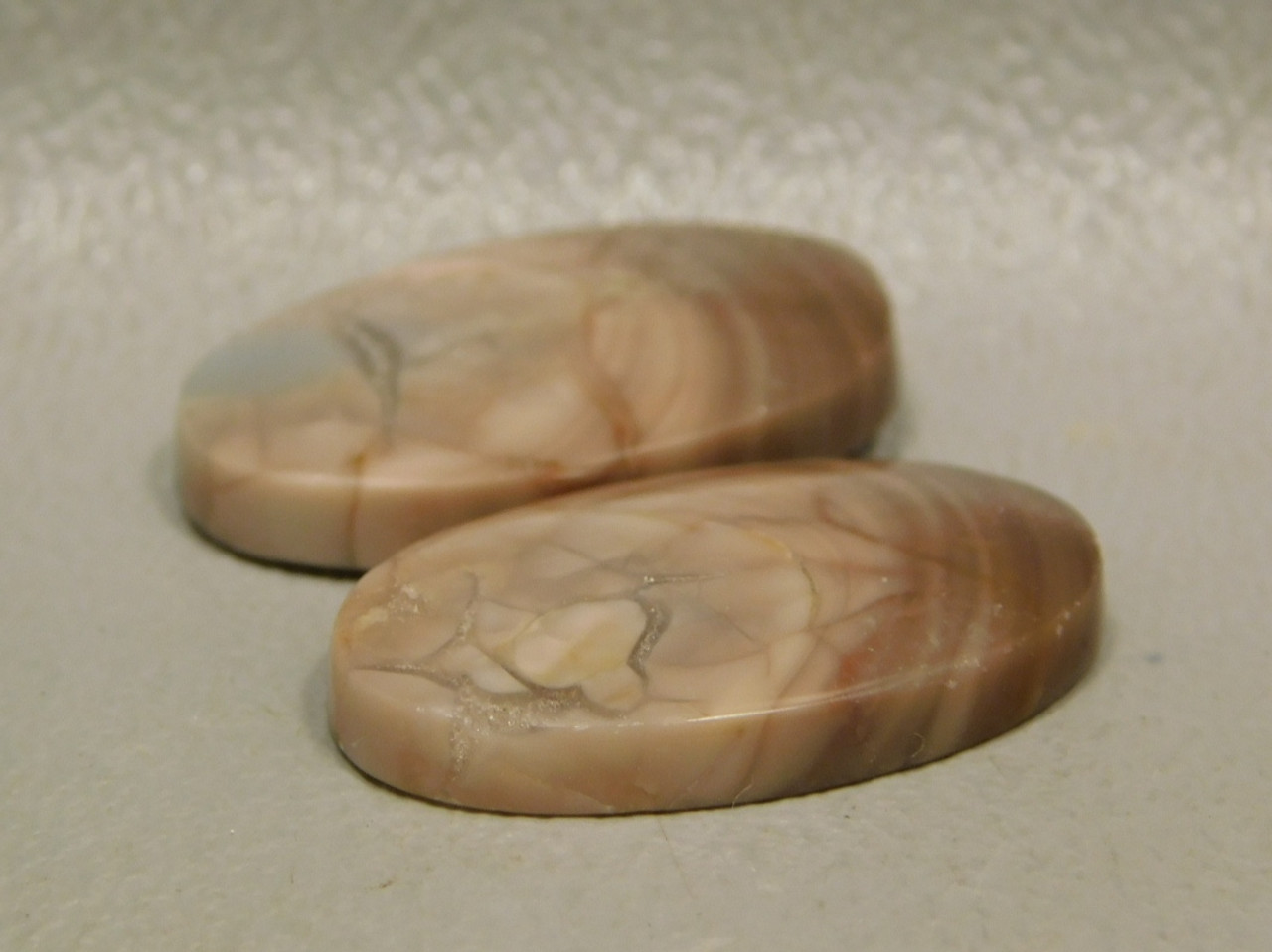 Royal Imperial Jasper Matched Pair Cabochon Loose Stones for Jewelry #24