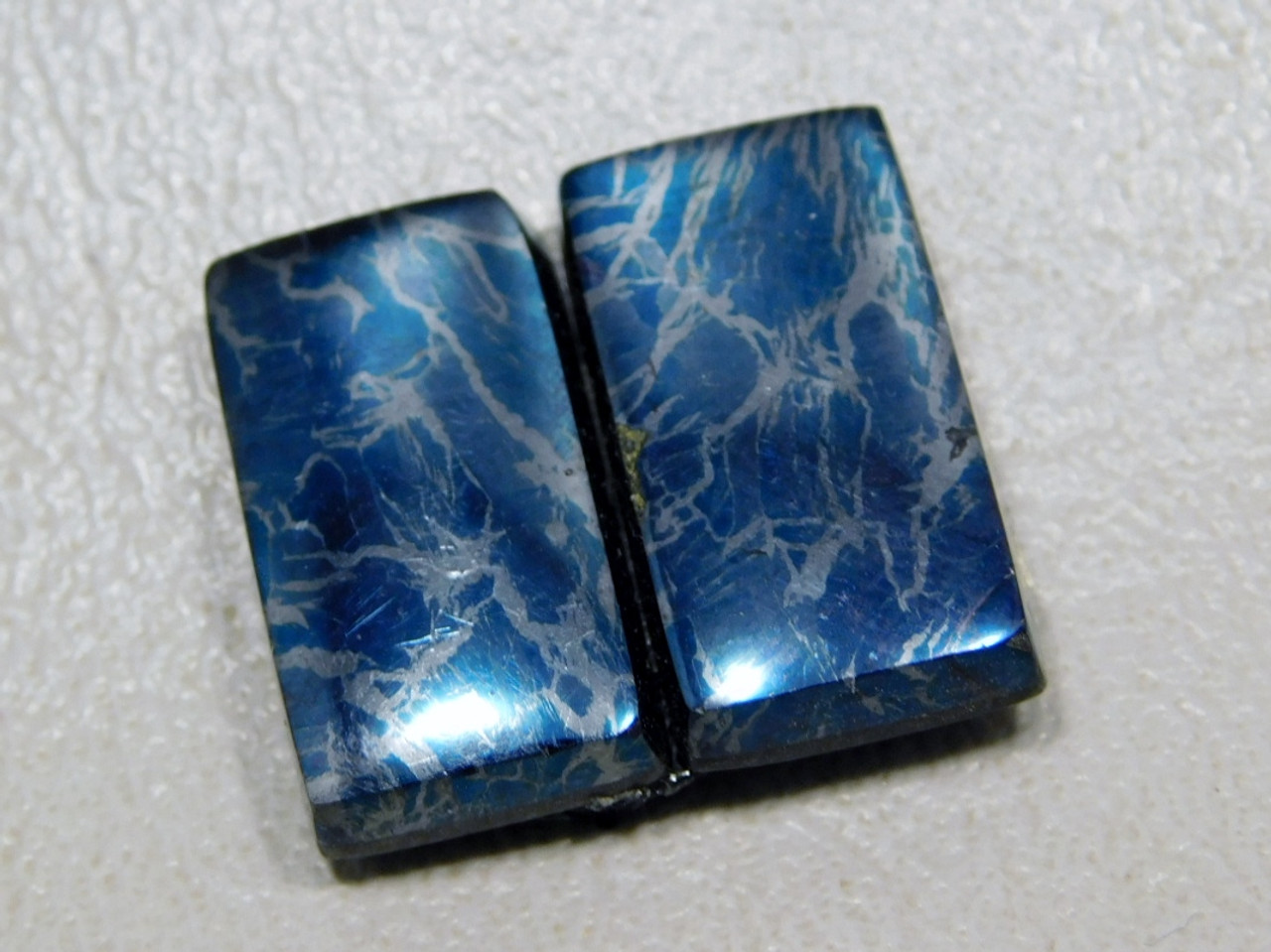 Covellite Matched Pairs Cabochons Bar or Rectangle Shaped #1