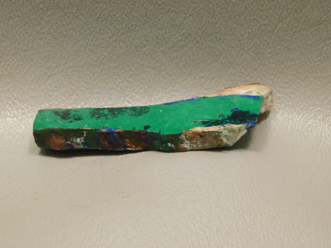 Azurite Malachite Freeform Small Natural Polished Stone Slab #S17