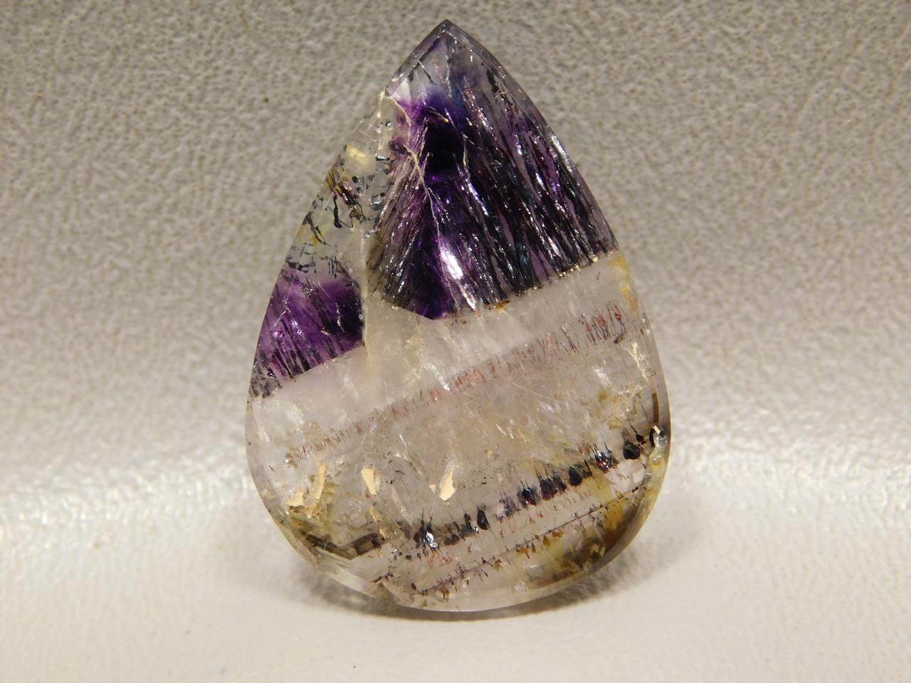 Super Seven Cacoxenite Healer Metaphysical Stone Cabochon #42