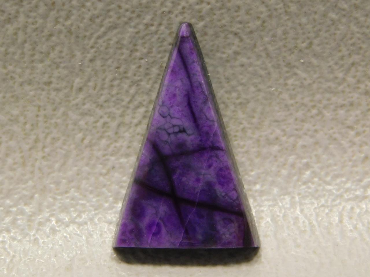 Sugilite Small Triangle Stone Cabochon Purple Royal Azel #29