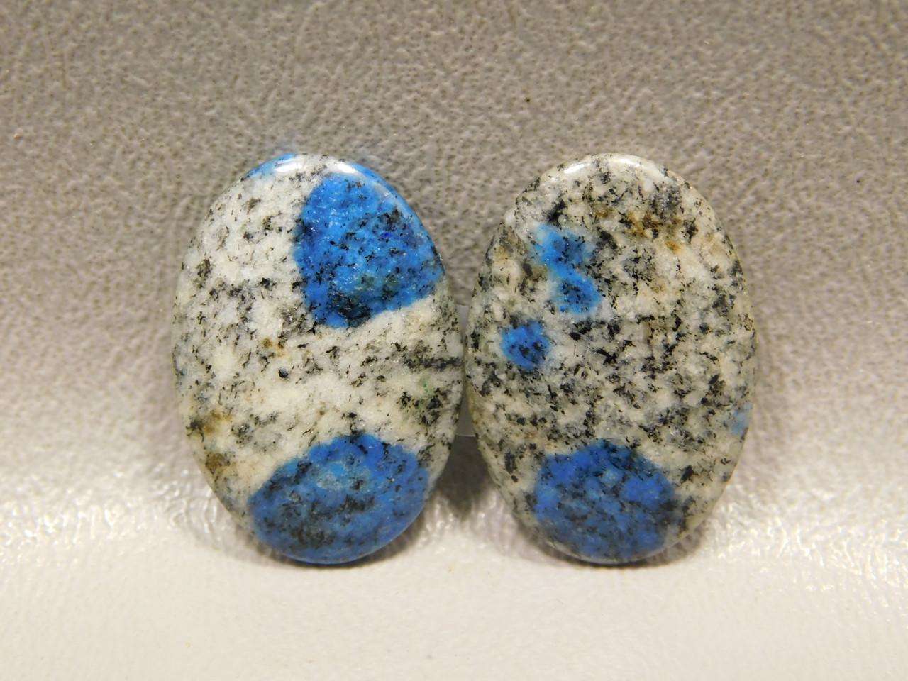 Cabochons Azurite Jasper Stone Semiprecious Matched Pairs #4