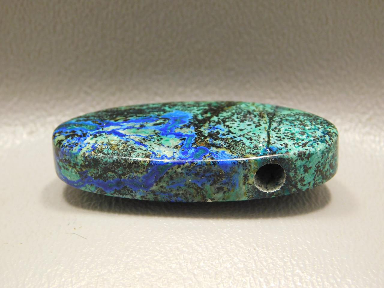 Azurite Malachite Stone Bead Pendant #11