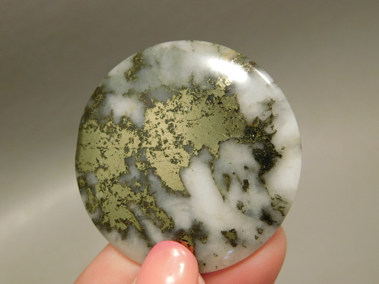 Mohawkite 40 mm Round Stone Cabochon #24