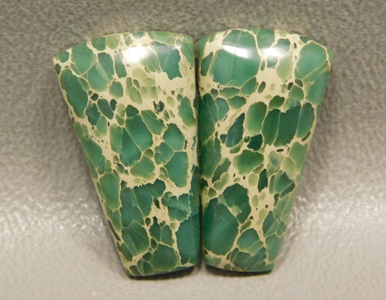 Web Variscite Matched Pair Cabochon Stones for Jewelry Making #4