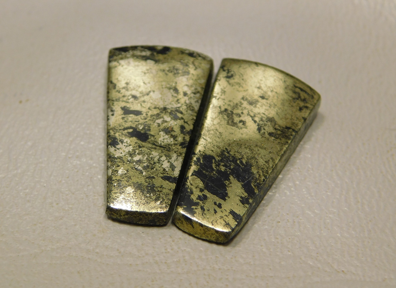 Apache Gold Matched Pair Cabochons jewelry making supplies #19