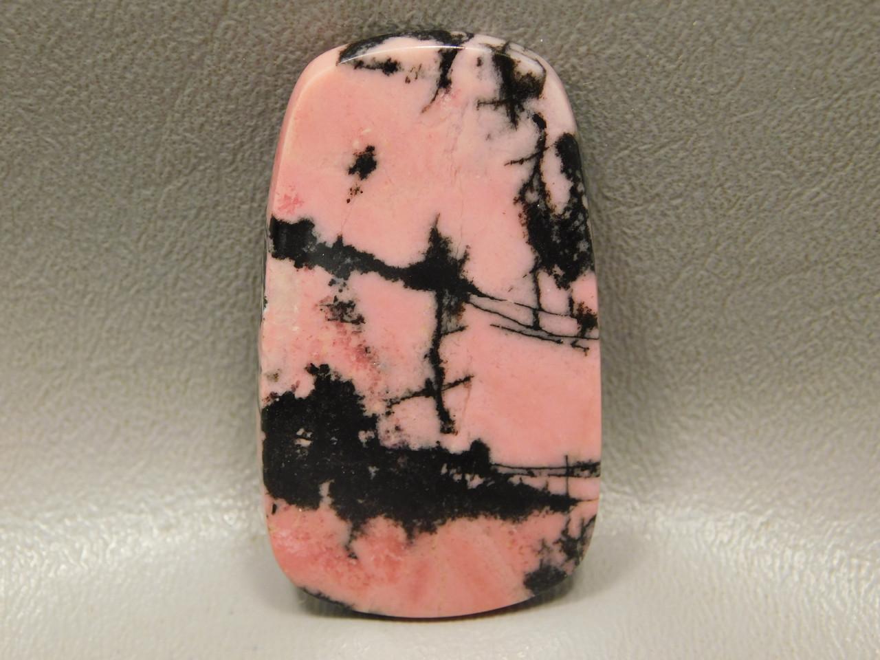 Cabochon Rhodonite Pink Black Semi Precious Stone Australia #11