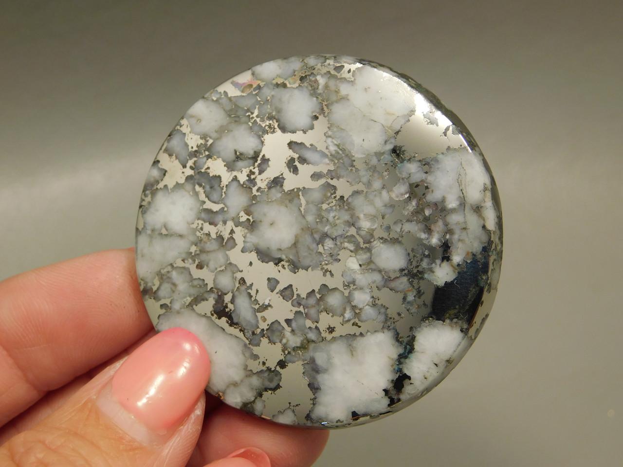Mohawkite 48 mm Round Jewelry Stone Cabochon #10
