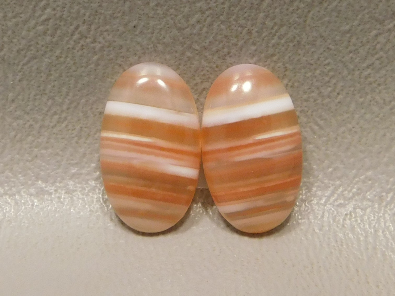 Cabochons Stones Orange Carnelian Agate Matched Pairs #16