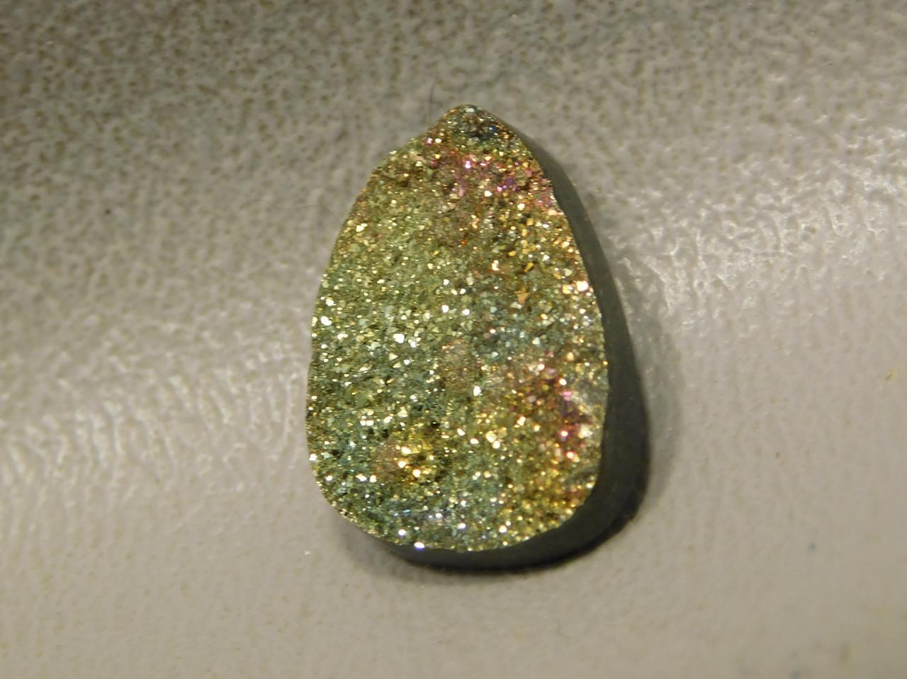 Iridescent Pyrite Small Stone Cabochon Jewelry Making  Supplies #10