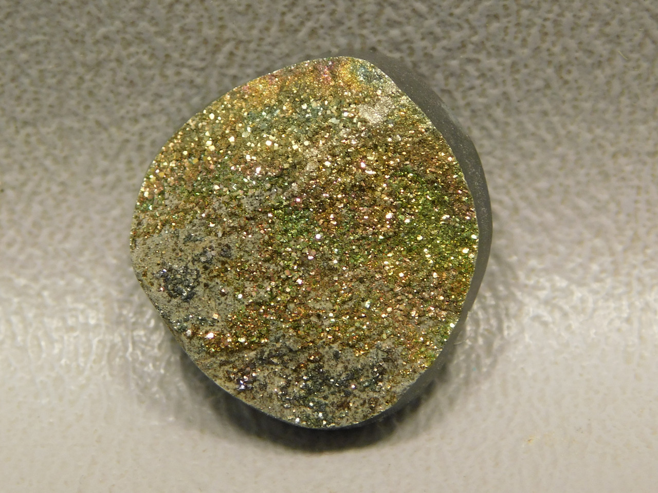 Rainbow Pyrite Small Stone Cabochon Custom Cut 18 mm Round #11