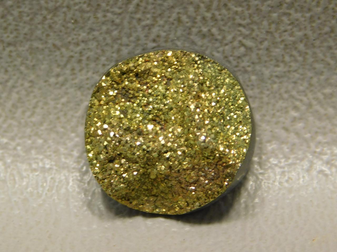 Druse Pyrite Small Stone Drusy Cabochon Custom Cut 14 mm Round #12