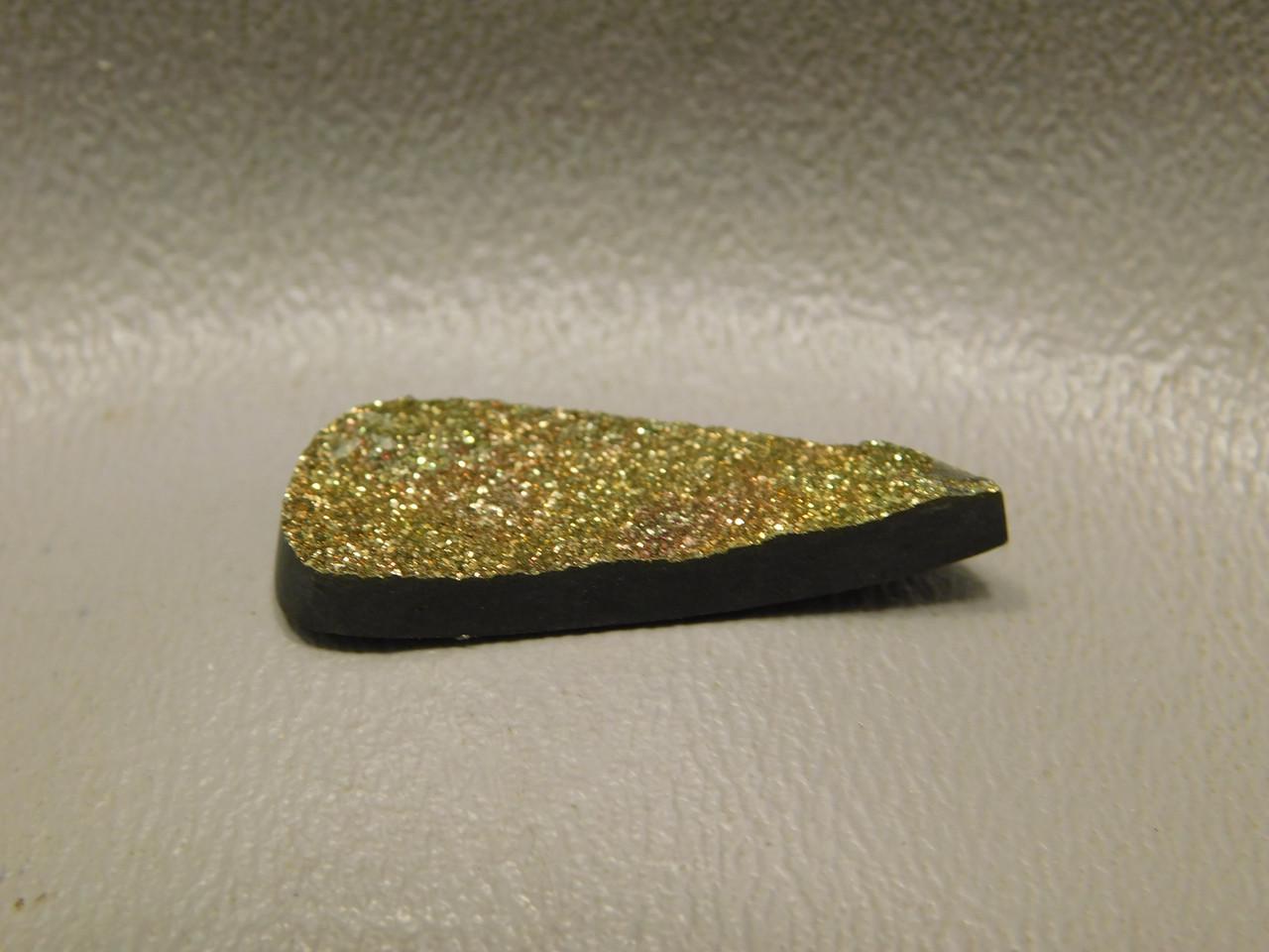 Druse Pyrite Drop Stone Drusy Cabochon Custom Cut Druzy Crystal #13