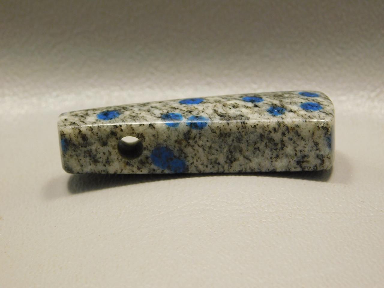 K2 Azurite Granite Stone Bead Pendant #10