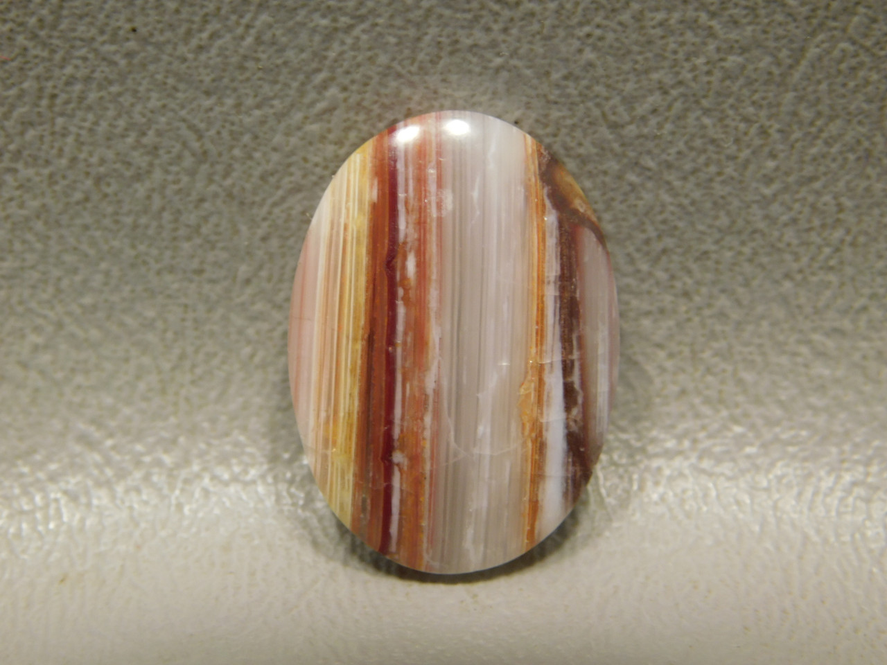 Candy Opal Banded Striped Red Cabochon Stone #13
