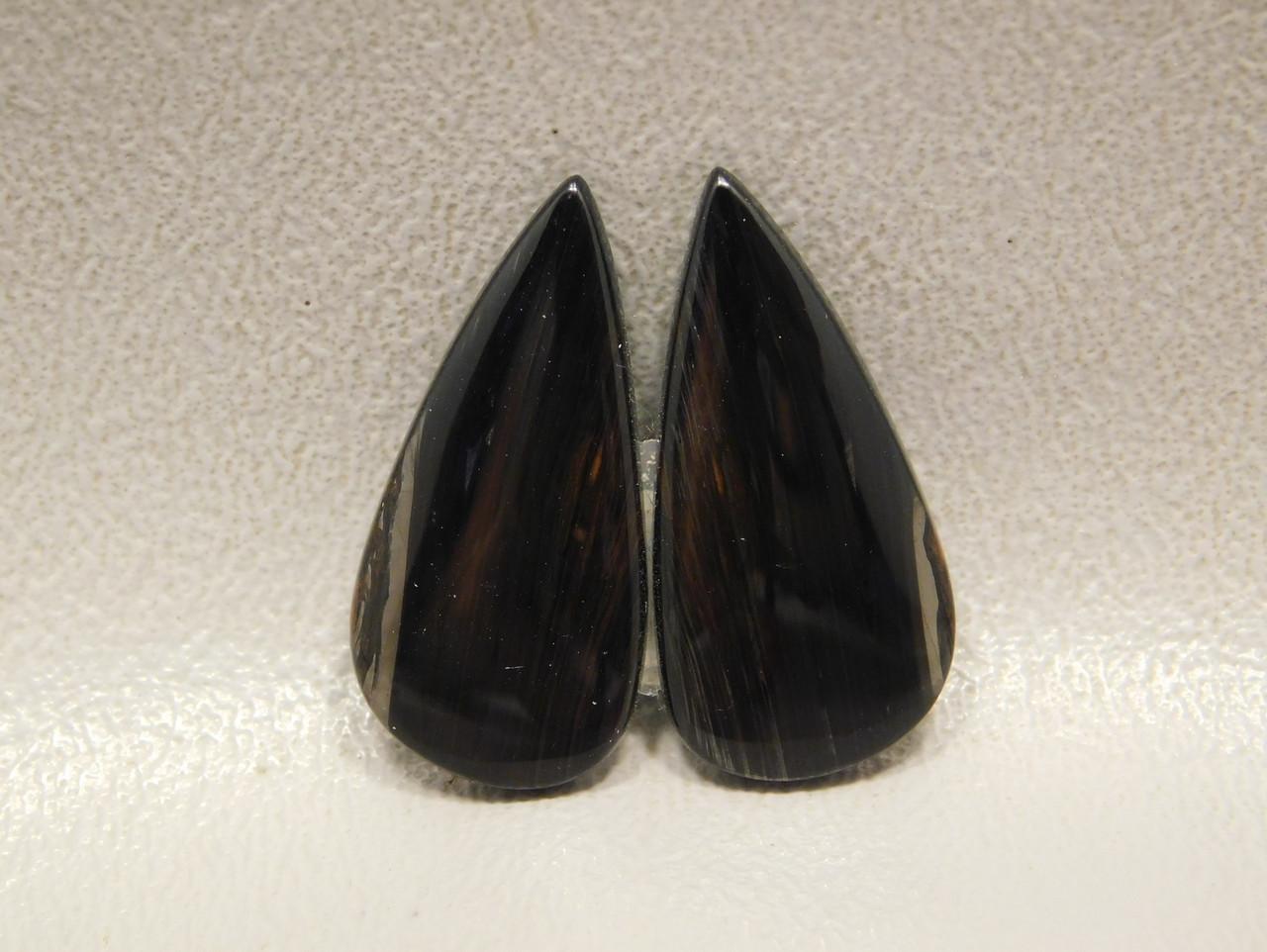 Mahogany Obsidian Gold Sheen Matched Pairs Cabochons Stones #15