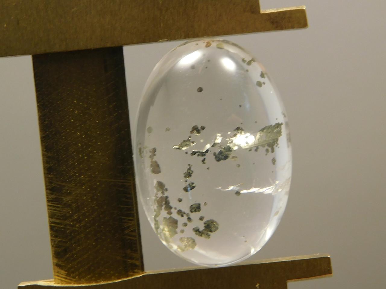 Included Quartz Pyrite Inclusions Cabochon Crystal Fools Gold #Q10