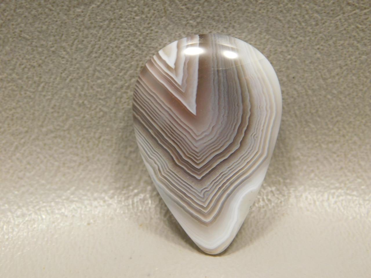Gray Pink Banded Botswana Agate Natural Loose Stone Cabochon #22