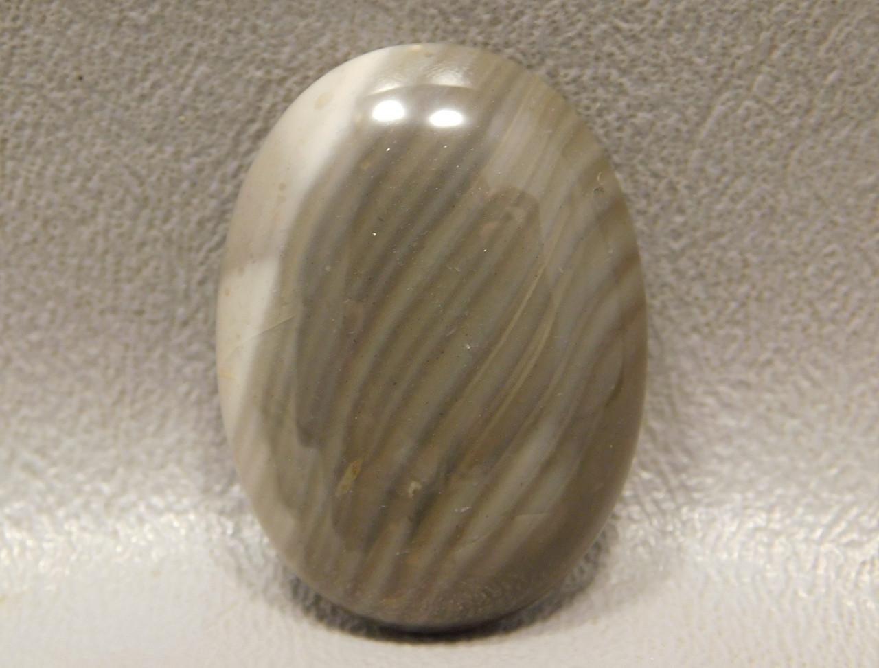 Cabochon Stone Banded Polish Flint Jewelry Making Supplies #16