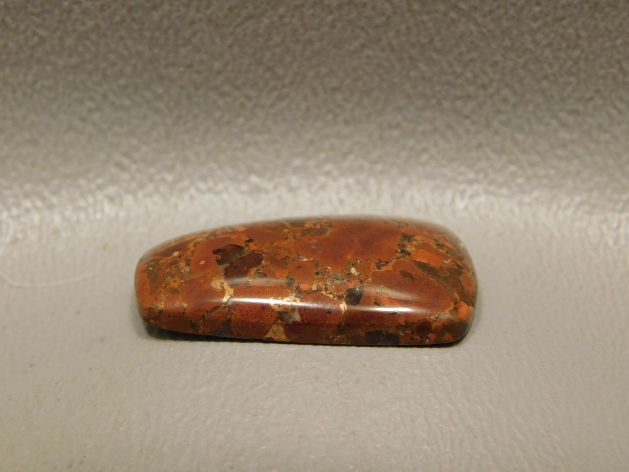 Trapezoid Cabochon Native Copper Rose Red Stone #20